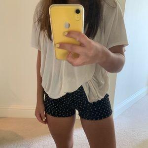BRAND NEW navy patterned shorts